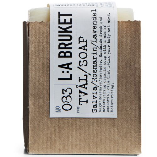 L:A BRUKET No. 83 Rope Soap Salbei/Rosmarin/Lavendel 240 g