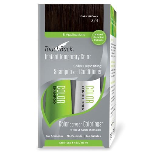 TouchBack Shampoo & Conditioner Set Dunkelbraun 2 x 118 ml