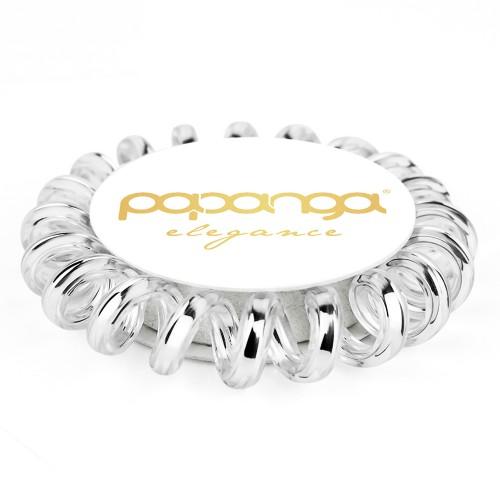 """Papanga Haargummi Elegant Silver """"Small"""""""