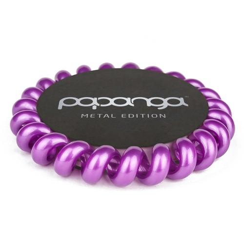 """Papanga Haargummi Metallic Purple """"Big"""""""