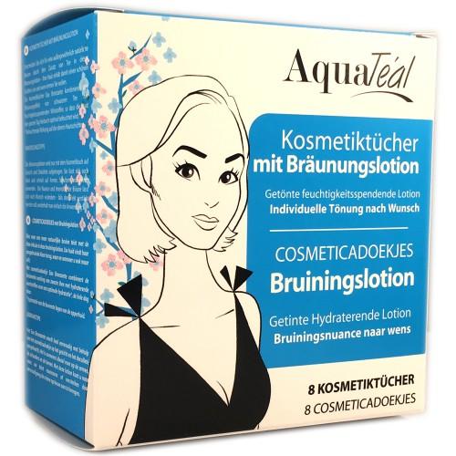 AquaTeal Kosmetiktücher mit Bräunungslotion