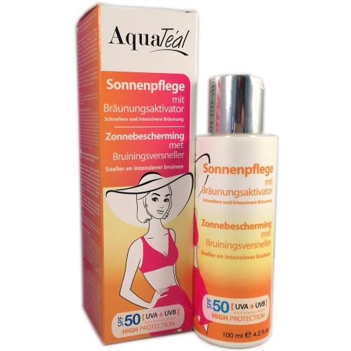 AquaTeal Sonnenpflege mit Bräunungsaktivator SPF 50, 100 ml
