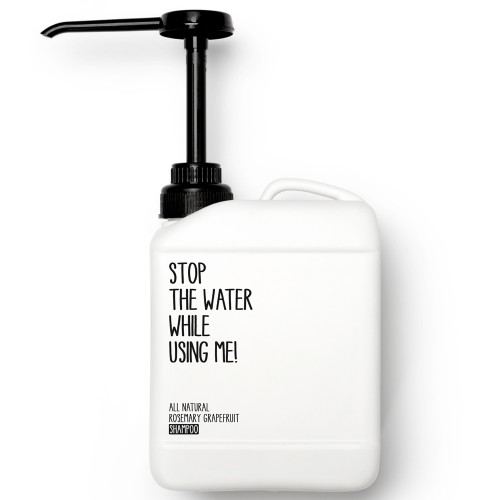 Stop the water while using me! All natural Rosemary Grapefruit Shampoo 2 l