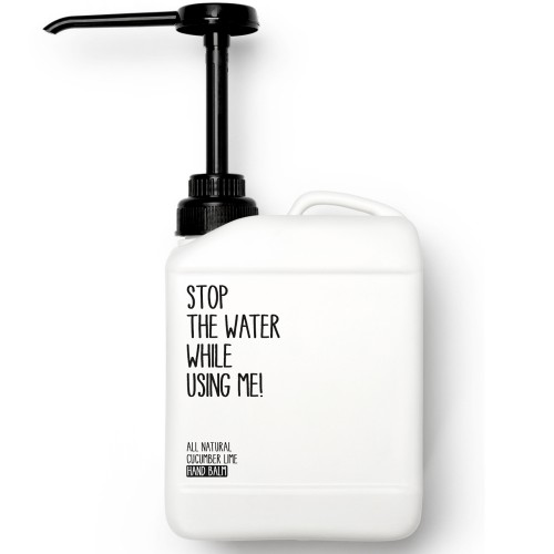 Stop the water while using me! All natural Cucumber Lime Hand Balm 2l
