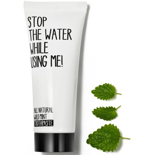 Stop the water while using me! All natural Wild Mint Toothpaste 75 ml