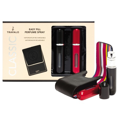 TRAVALO Classic HD Taschenzerstäuber Set Black & Red 2x5 ml