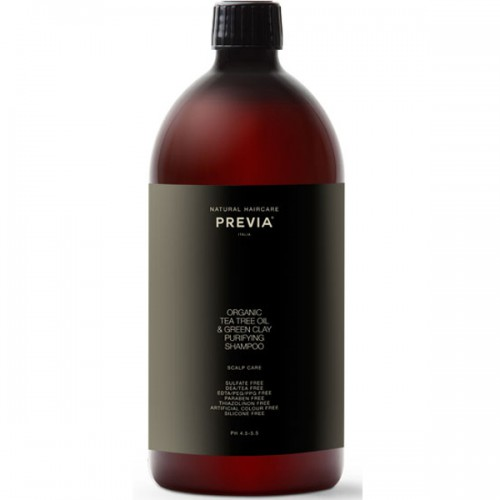 Previa Extra Life Tee Tree GreenClay Purifying Shampoo 1000 ml