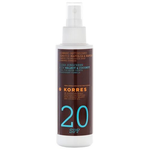 Korres Transparentes Sonnenspray für den Körper SPF 20 150 ml