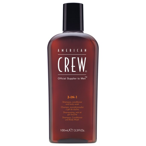 American Crew 3-in-1 Shampoo, Conditioner & Bodywash 100 ml