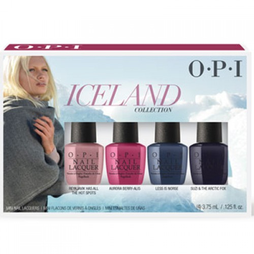 OPI Iceland Nail Lacquer Mini 4-Pack