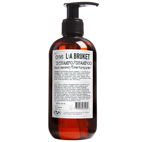 L:A BRUKET No.86 Shampoo Coriander/Black Pepper 250 ml