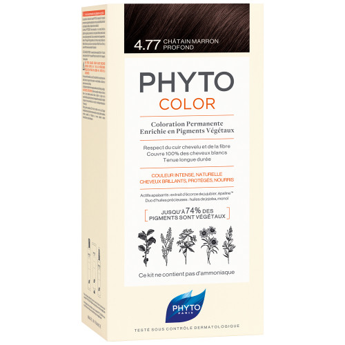 Phyto Phytocolor 4.77 Intensiv Kastanienbraun Kit