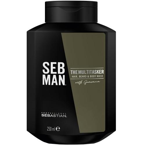 SEB MAN The Multitasker 3in1 Hair, Beard & Body Wash 250 ml