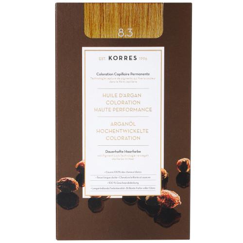 Korres Argan Oil Hair Colorant 8.3 Honigblond