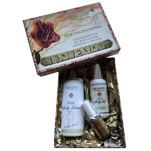 Gigarde Silky Body Lotion mit Olive Valentinsset