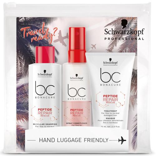 Schwarzkopf BC Bonacure Peptide Repair Rescue Travel Trio