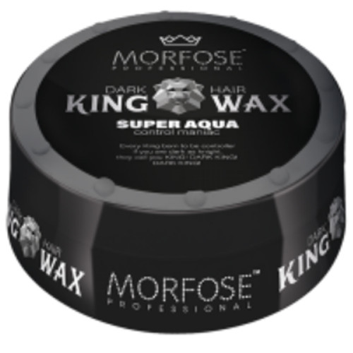 Morfose King Wax Schwarz Super Strong Aqua 175 ml