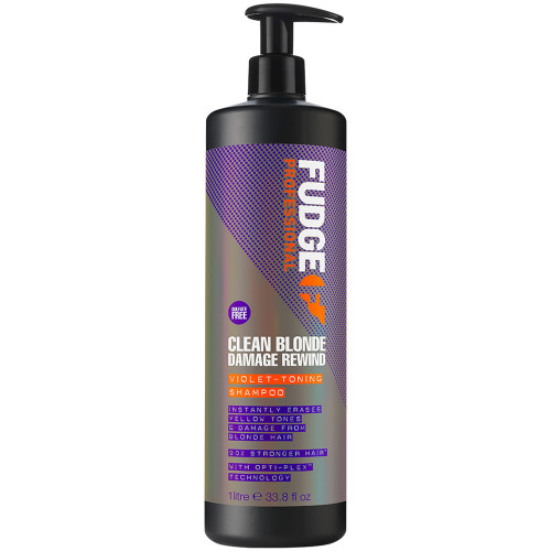 Fudge Clean Blonde Damage Rewind Viollett Toning Shampoo 1000 ml