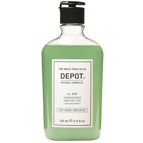 DEPOT 406 Transparent Shaving Gel brushless 200 ml