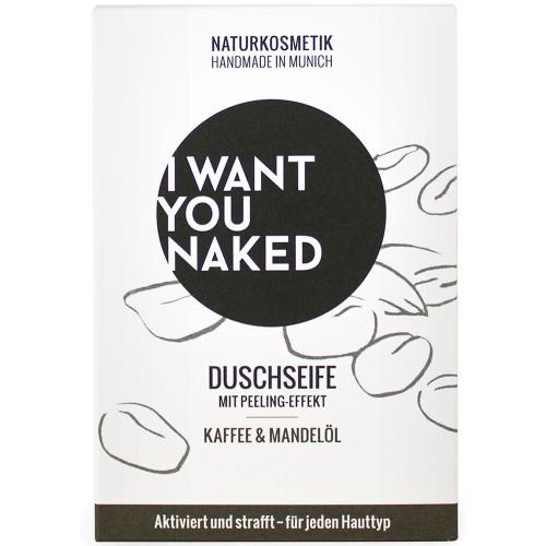 I WANT YOU NAKED Duschseife Kaffee & Mandelöl 100 g