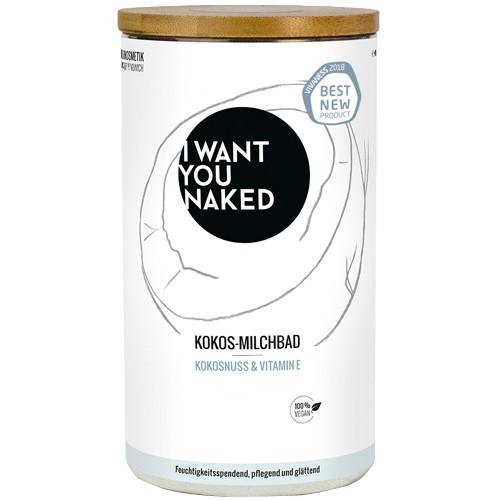 I WANT YOU NAKED Milchbad Kokosnuss & Vitamin E 400 g
