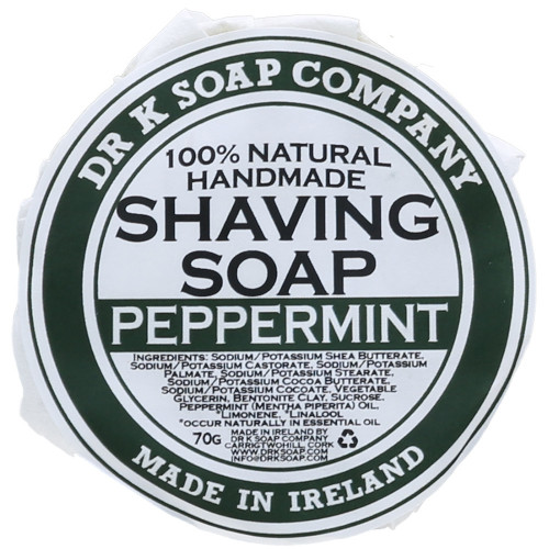 Dr K Soap Company Shaving Soap Peppermint 70 g