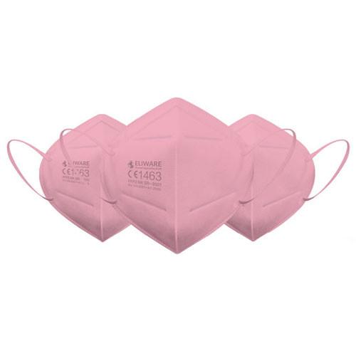 Eliware FFP2 Einweg Atemschutzmaske - pink 10 Stück