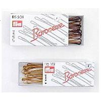 Baronesse Haarklemmen 6,5 cm braun, 12er-Pack