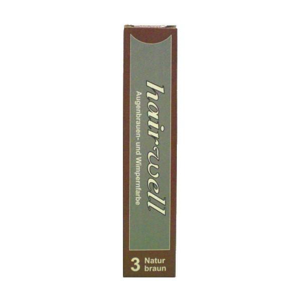 Hairwell Augenbrauen- und Wimpernfarbe Nr. 3 Braun 20 ml