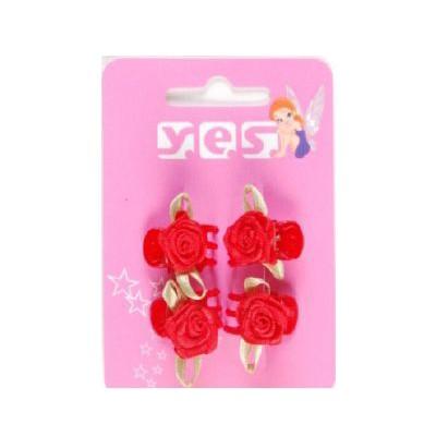 Solida Wasserwellklammer mit Stoffblüte, Rot