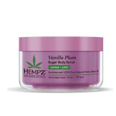 Hempz Vanilla Plum Sugar Body Scrub