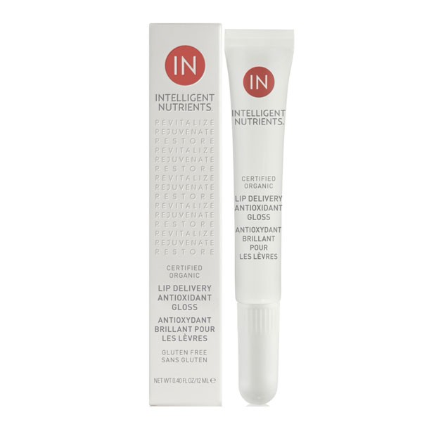 Intelligent Nutrients Certified Organic Lip Delivery Antioxidant Gloss Glazed Peony 12 ml