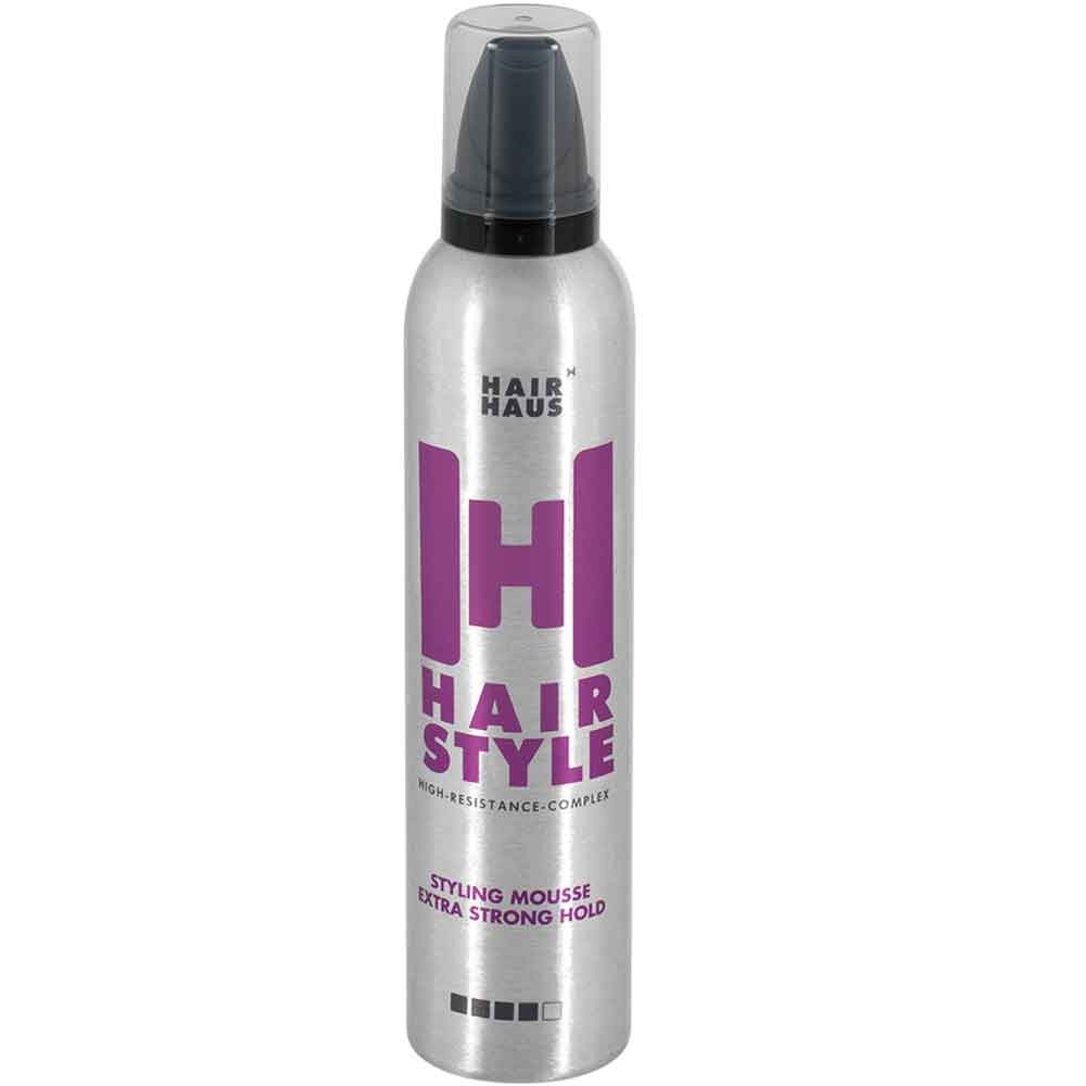Startseite / HAIR HAUS Hairstyle Styling Mousse Extra Strong Hold 300 ...