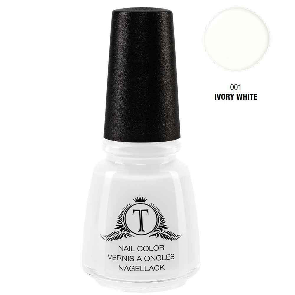 Trosani Topshine Nagellack 001 Ivory White 17 ml