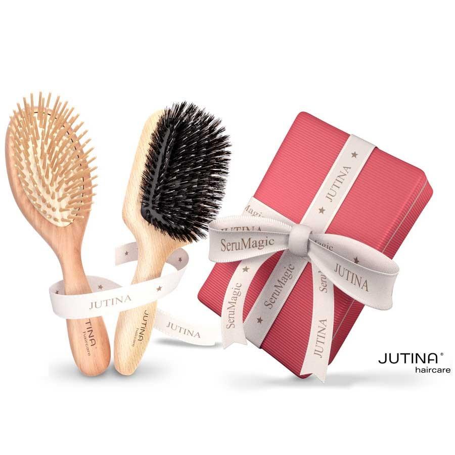 Jutina Haircare Bürstenset Jet Set & Bürste Long Hair Care