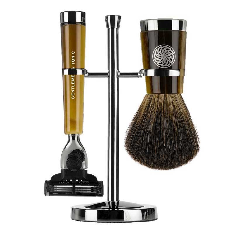 Gentlemen's Tonic Shaving Accesoire Savile Row Set Horn