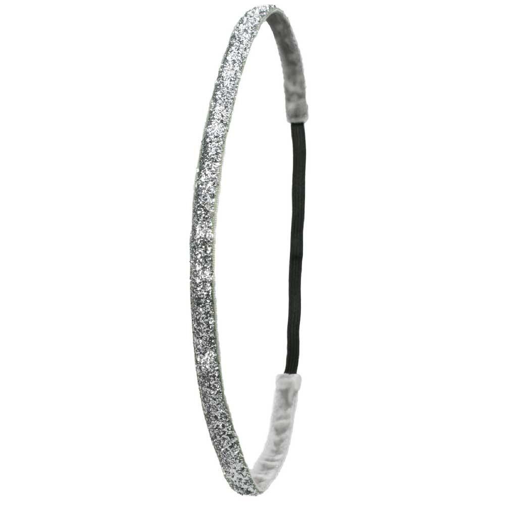 Ivybands Silber Glitzer Super Thin Haarband