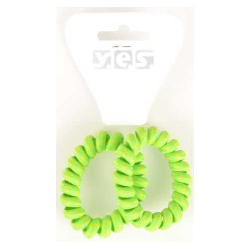 Solida Zopfabbinder Telefonkabel Textil, grün, 2 Stück
