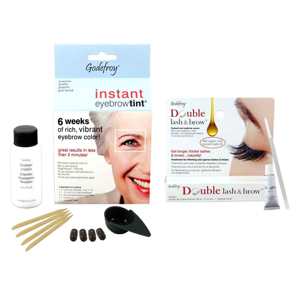 GODEFROY Instant Eyebrow Tint Graphit + Double Lash & Brow