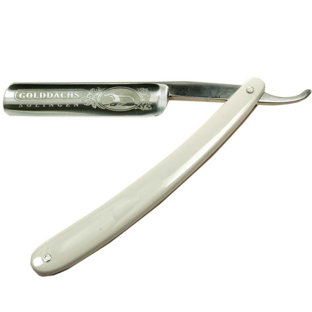 Golddachs Rasiermesser, weiß