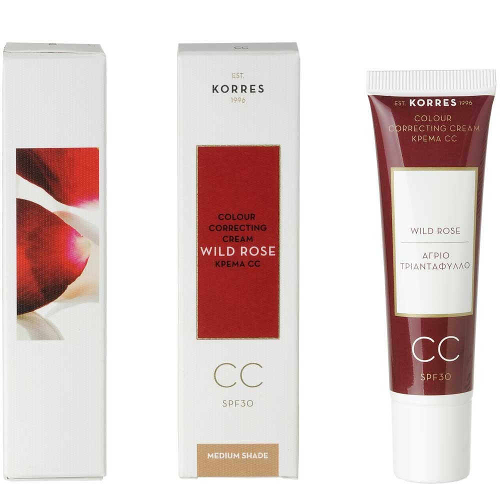 Korres Wild Rose CC Cream Medium Shade 30 ml