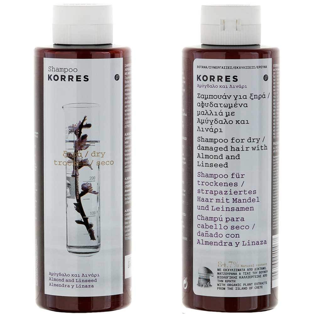 Korres Almond & Linseed Shampoo 250 ml