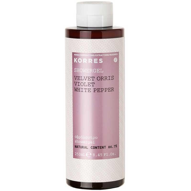 Korres Showergel Velvet Orris / Violet 250 ml