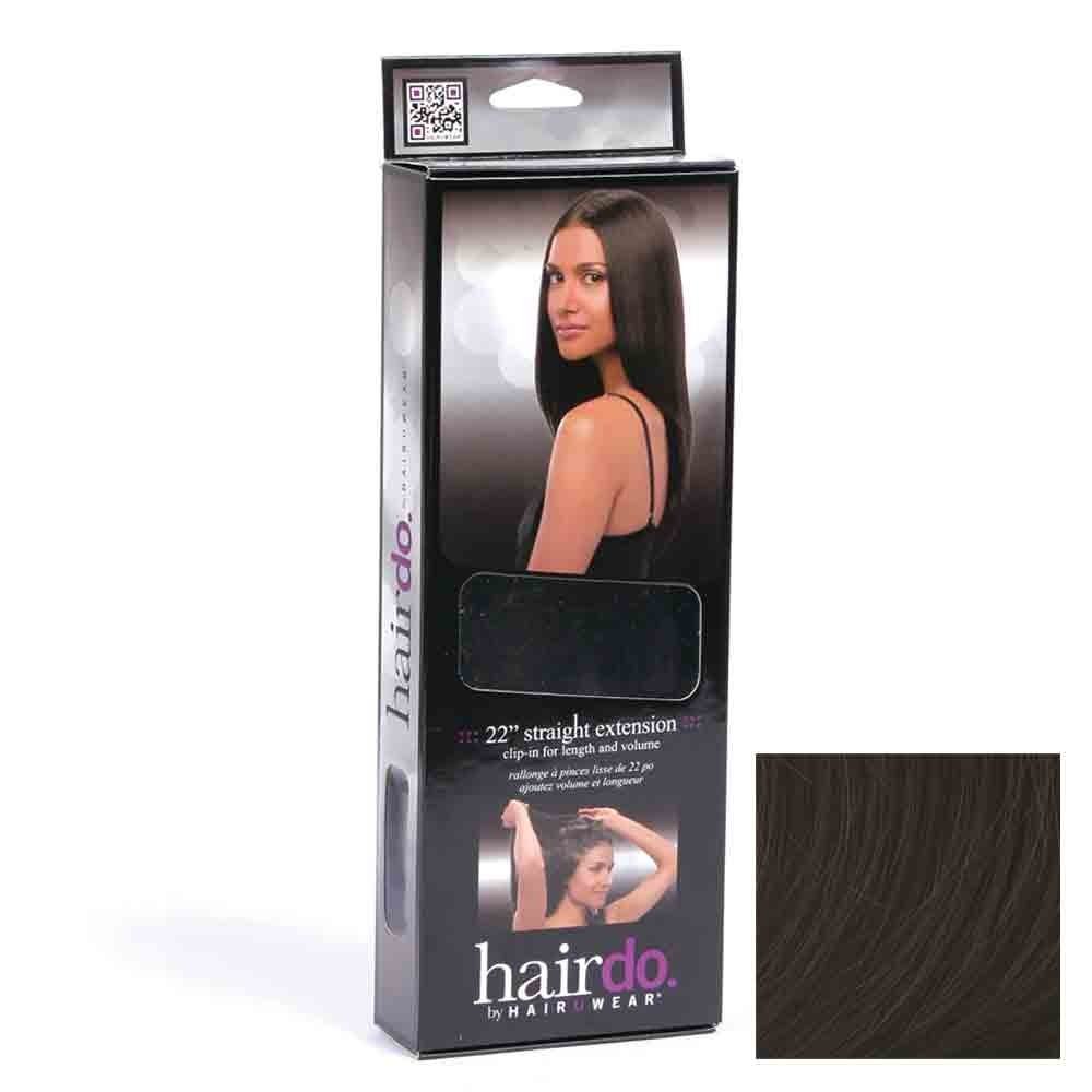 Hairdo Haarteil Clip in Straight Extension R2 ebony black 55 cm