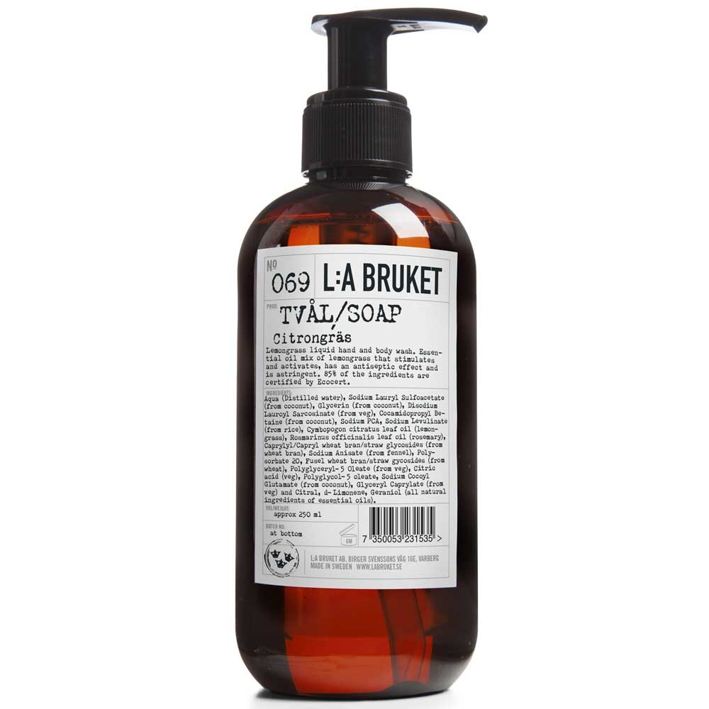 L:A BRUKET No. 69 Liquid Soap Lemongrass 250 ml