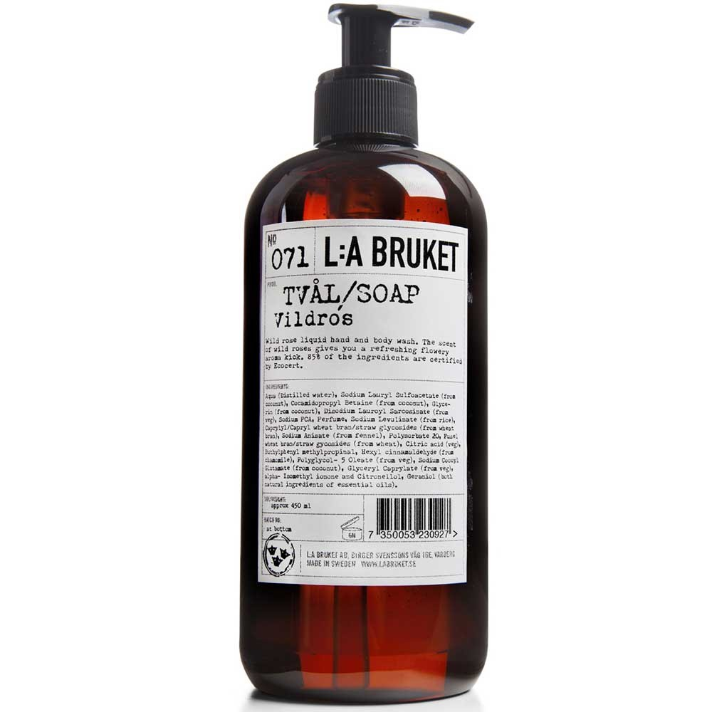 L:A BRUKET No. 71 Liquid Soap Wildrose 450 ml