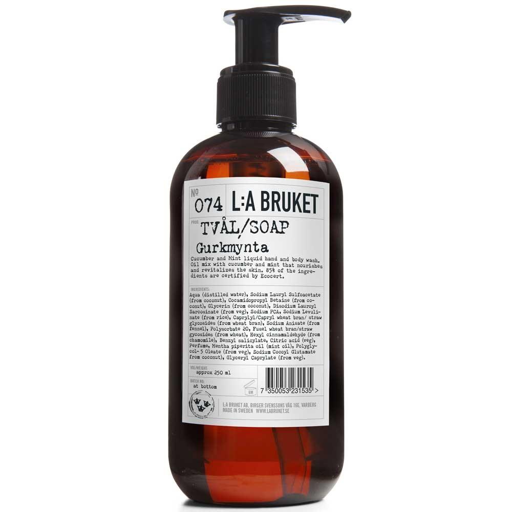L:A BRUKET No. 74 Liquid Soap Gurke/Minze 250 ml