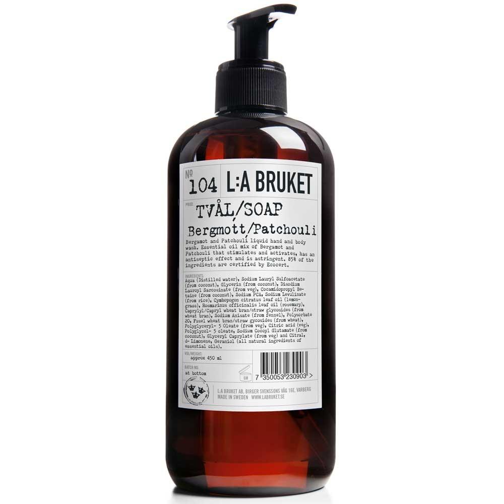 L:A BRUKET No. 104 Liquid Soap Bergamotte/Patchouli 450 ml