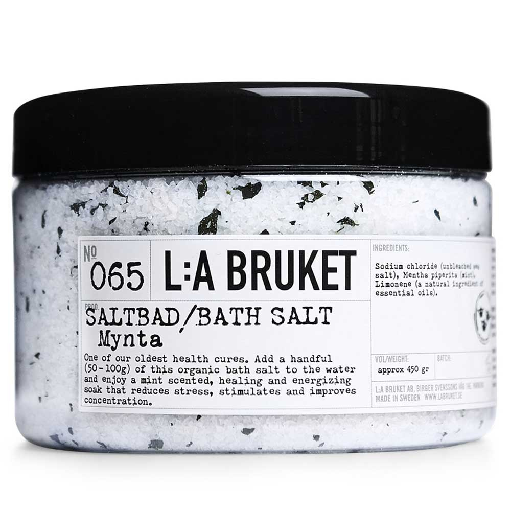 L:A BRUKET No. 65 Bath Salt Minze 450 g