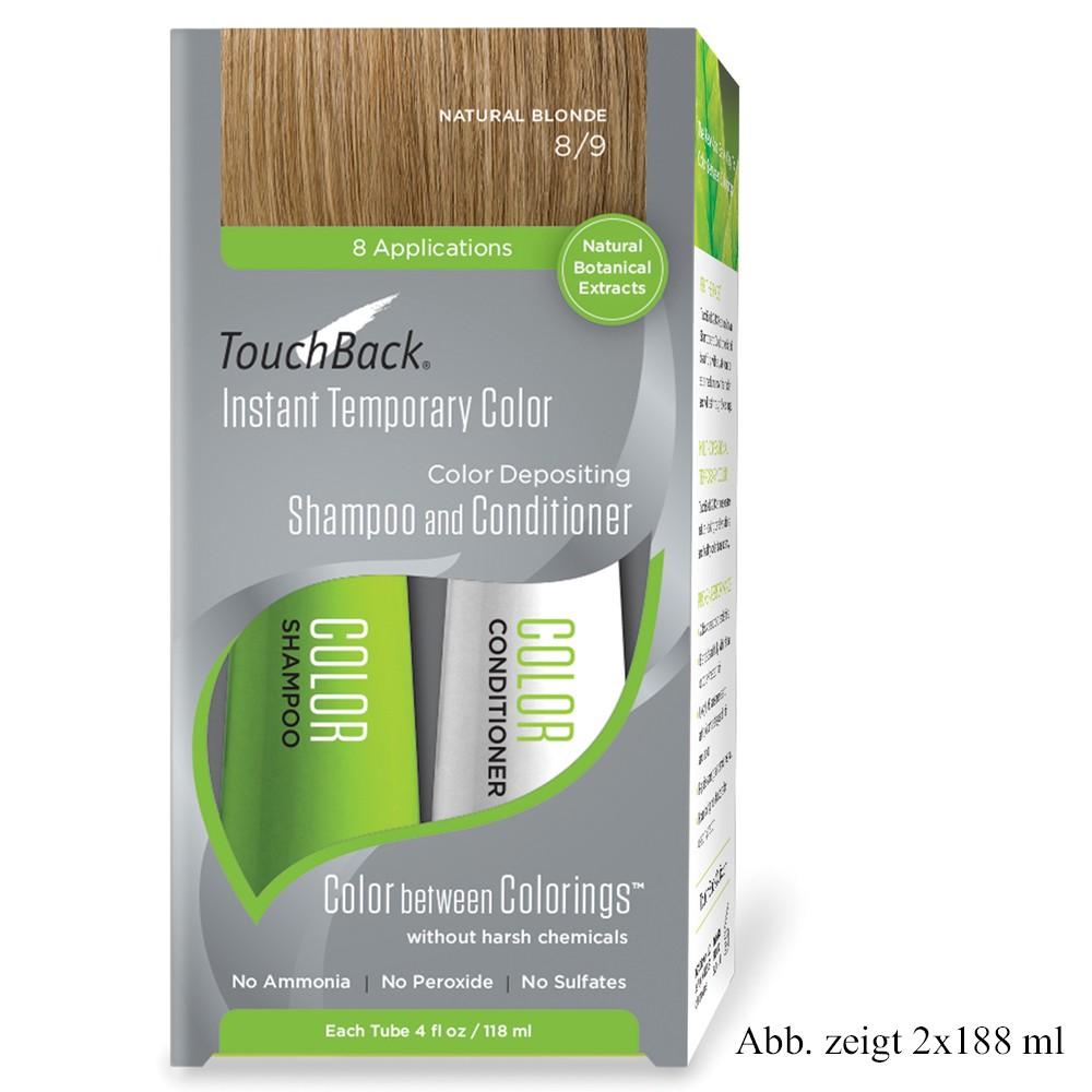 TouchBack Shampoo & Conditioner Einmal-Set Naturalblond Sachet 15 x 19 ml
